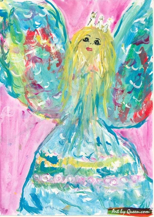 En drömmande ängel