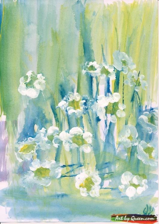 Blommande prästkragar