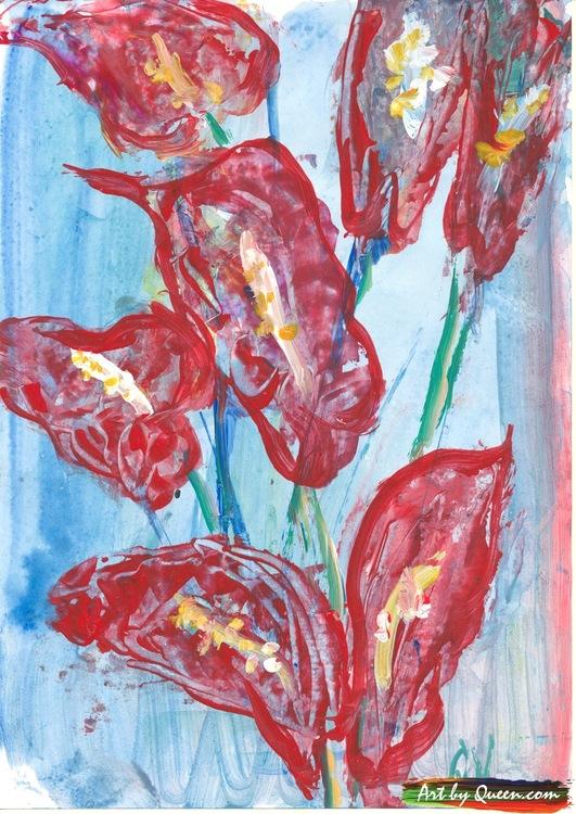 Blomstrande rosenkalla