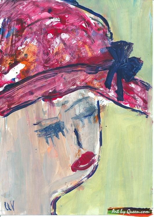 Kvinnan i röd hatt