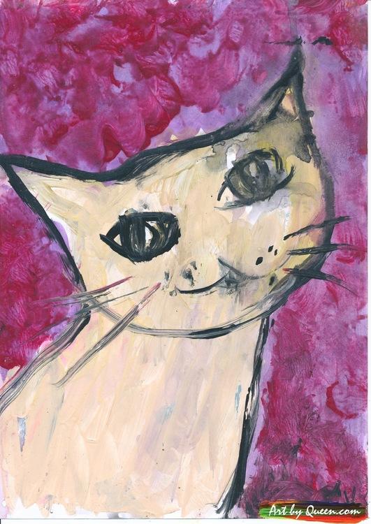 Glada katten Mina