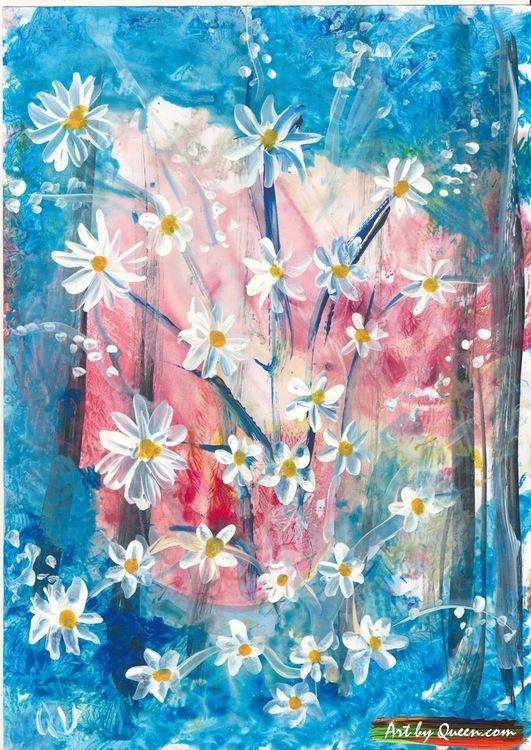 Vackra blommor doftar