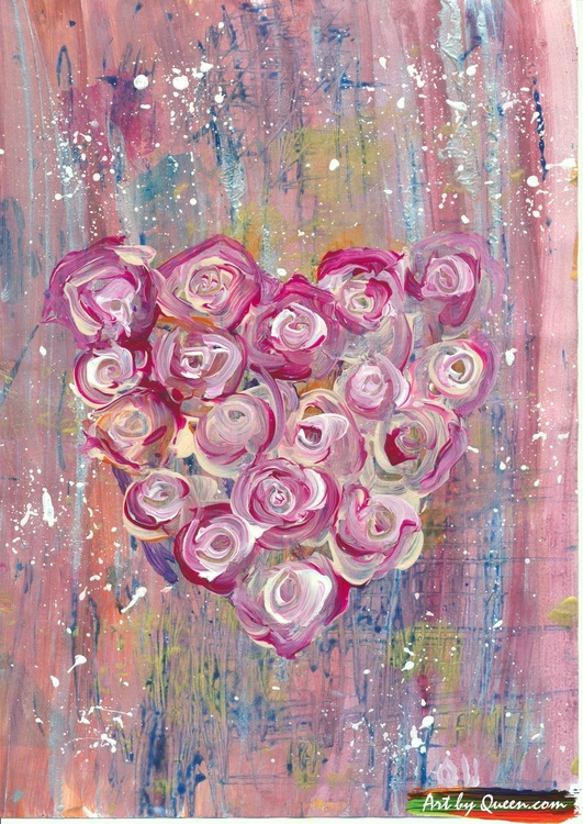 Doftande blomhjärta