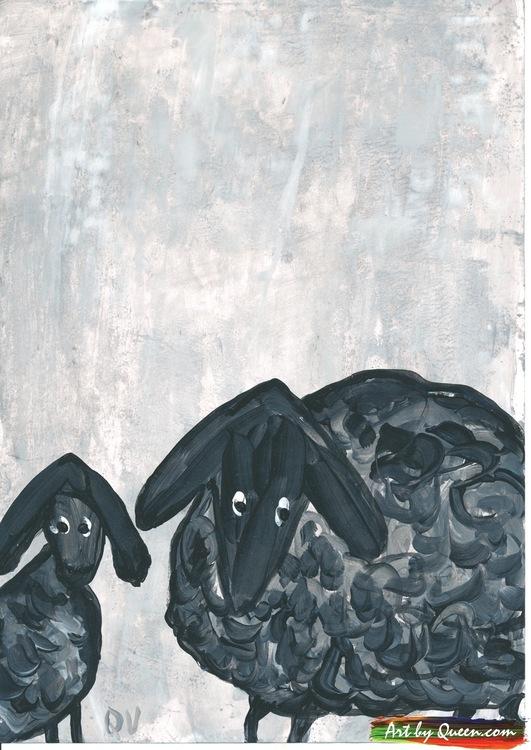 Två nyfikna svarta får