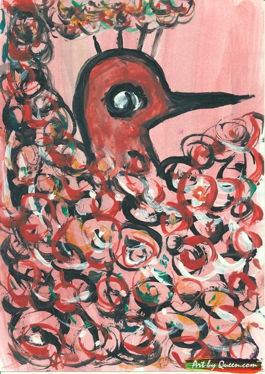 Den glada påfågeln