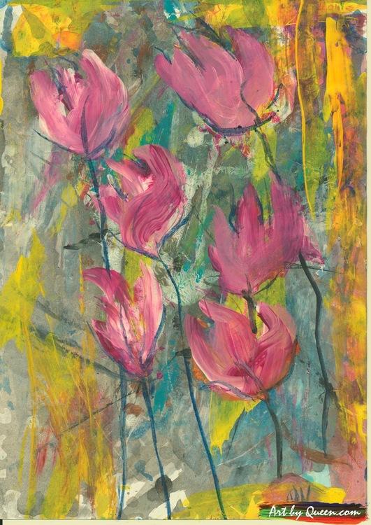 Blommande cyklamen
