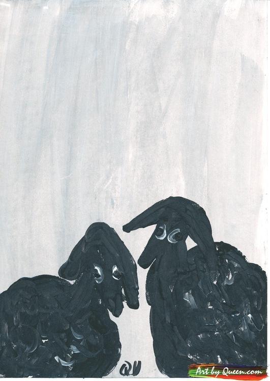Två ulliga får snackar