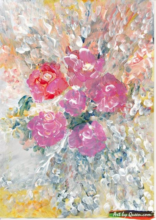 Rosor blommar