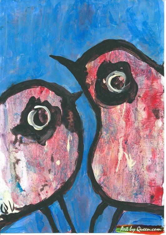 Två sötaste fåglar