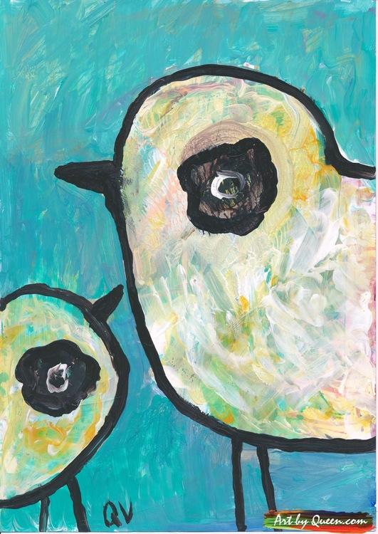Två glada fåglar