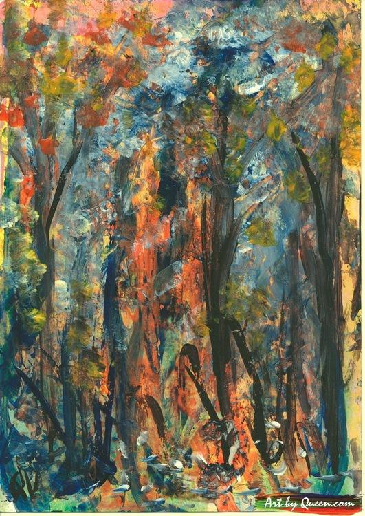 Träden i parken