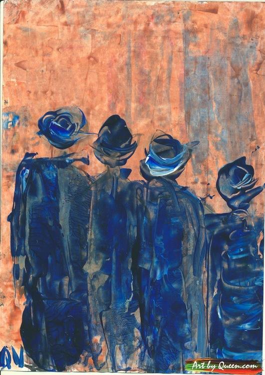 Fyra vandrande kvinnor