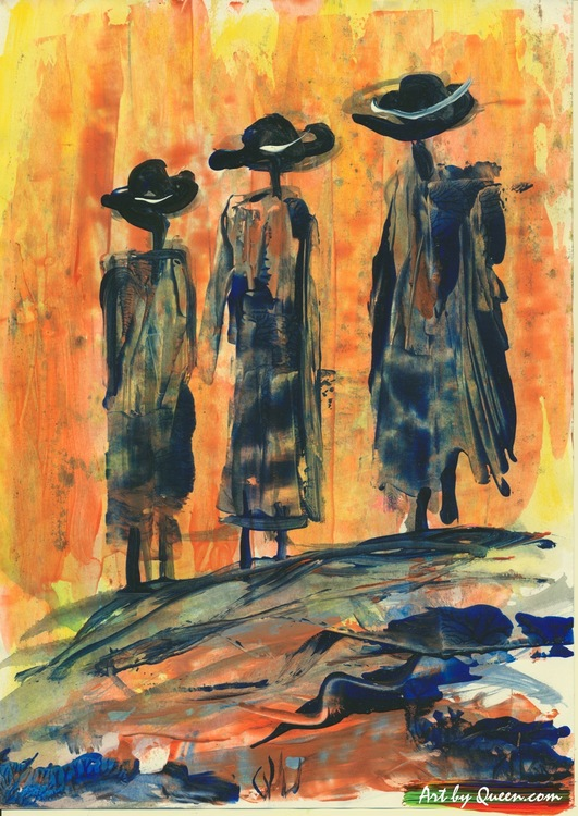 Tre vandrande folk