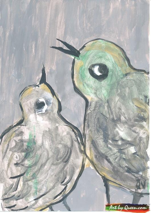 Två goa fågelungar
