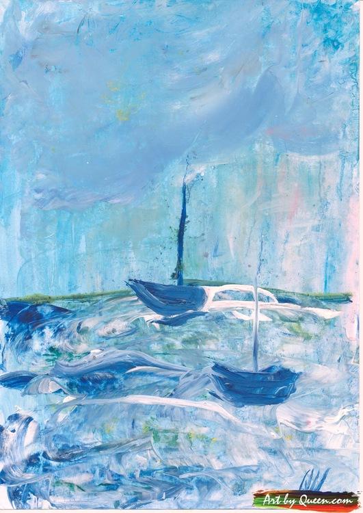 Två båtar på havet