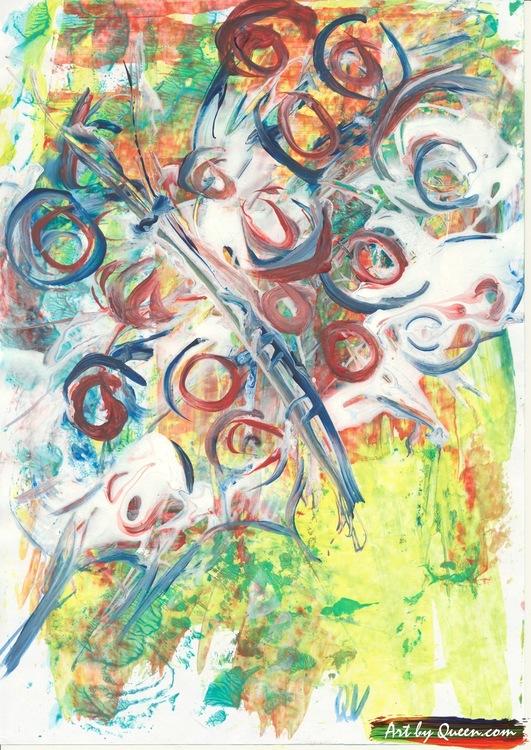 Dansande färgglad fjäril