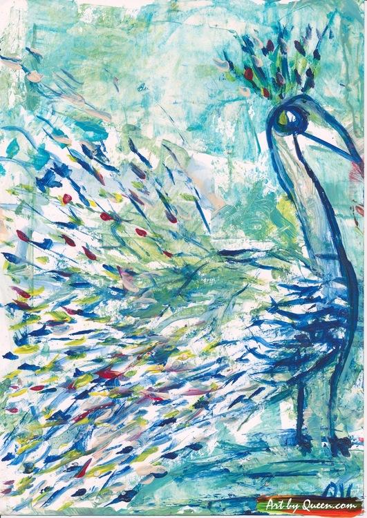 Dansande påfågel