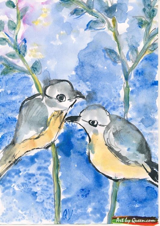 Gulliga fåglar