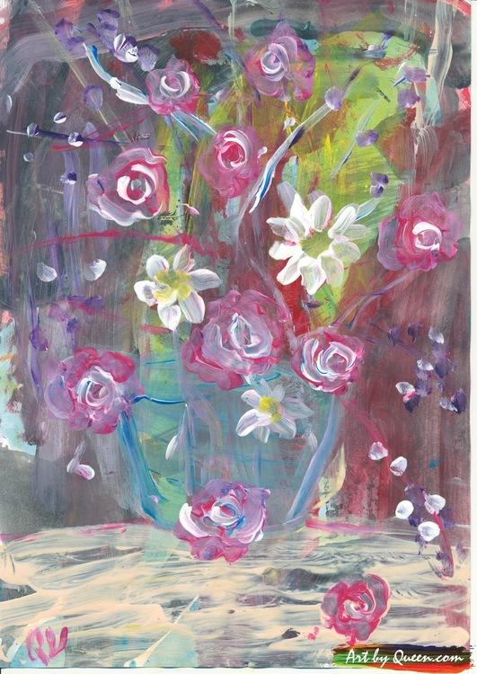 Vackra rosor i vasen