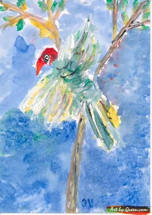 Papegoja i trädet