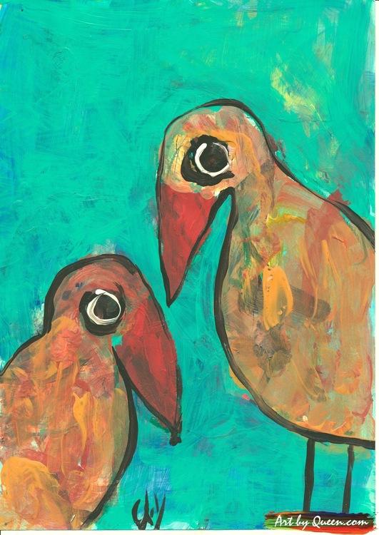 Två stolta papegojor
