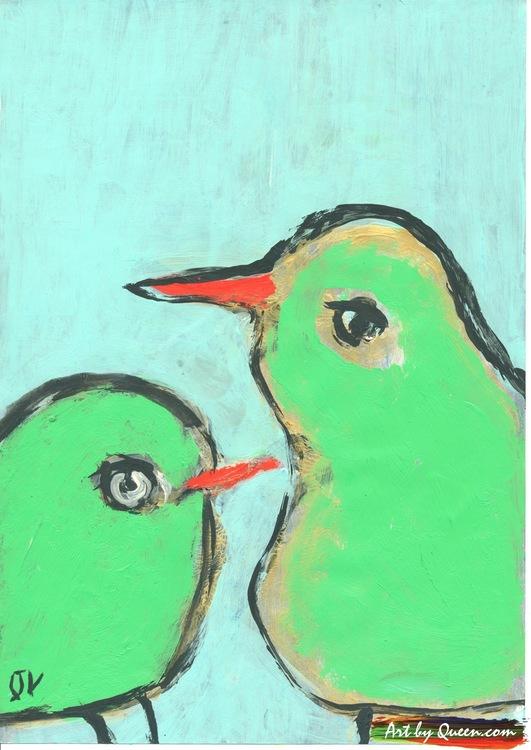 Söta fåglar