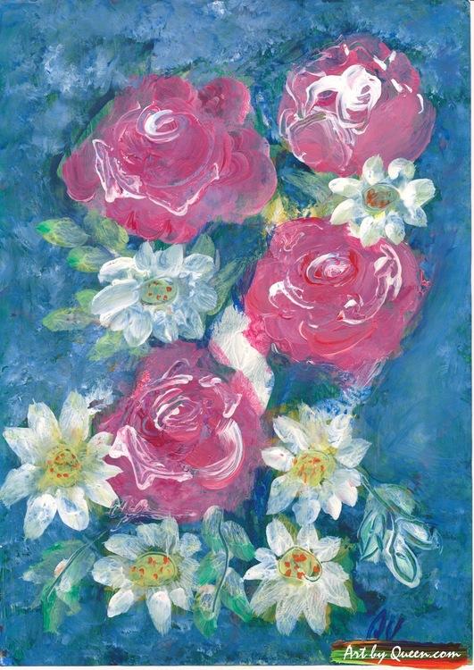 Doftande rosor och andra blommor