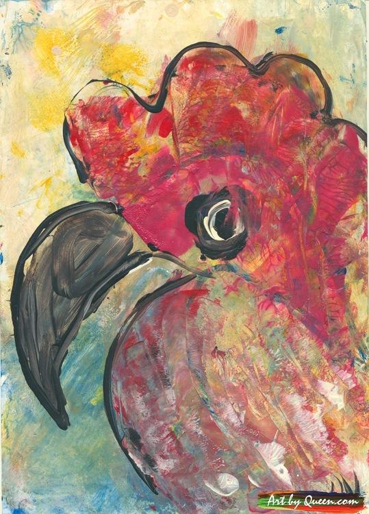 En ung papegoja