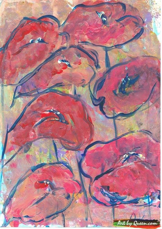 Sju vackra rosenkalla
