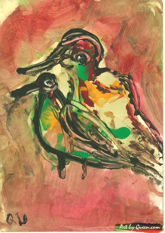Två söta fåglar