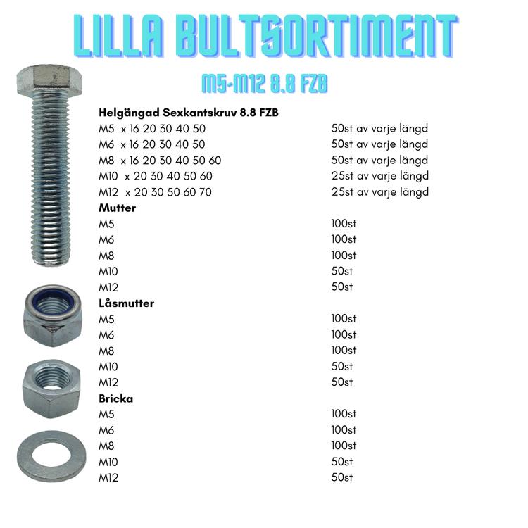 Lilla Bultsortiment M5-M12 8.8 FZB