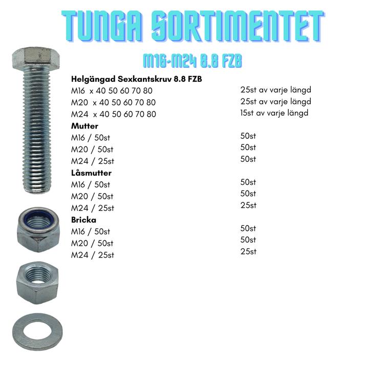 Tunga Sortimentet M16-M24 8.8 FZB