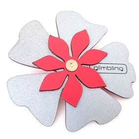 Poppy blomreflex, röd