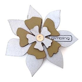 Clematis blomreflex, mossgrön