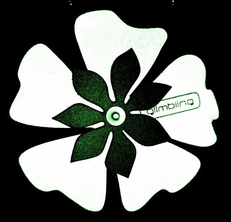 Poppy blomreflex, mossgrön