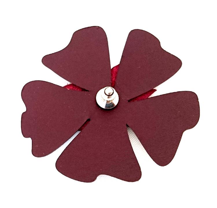 Poppy blomreflex, plommon