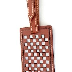 Bagageetikett Chess, brun