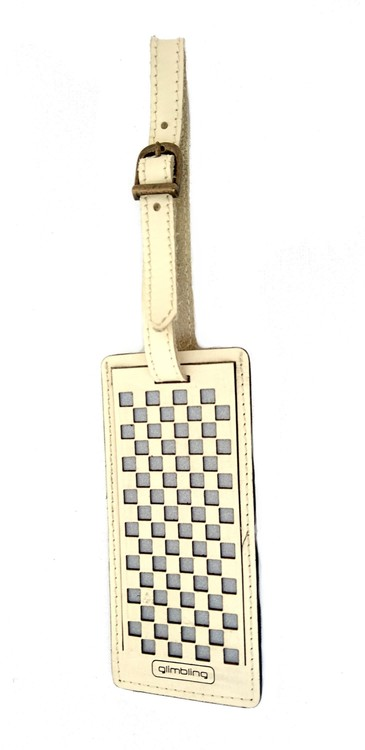 Bagageetikett Chess, cremevit