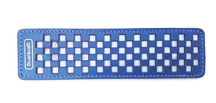 Chess rektangulär reflexbrosch, blå
