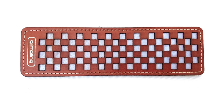 Chess rektangulär reflexbrosch, brun
