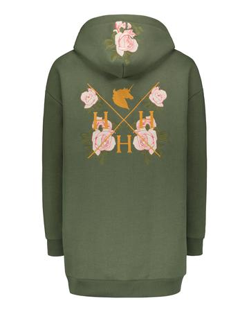 HoH La Vie Rose Hoodie Army Green Queen