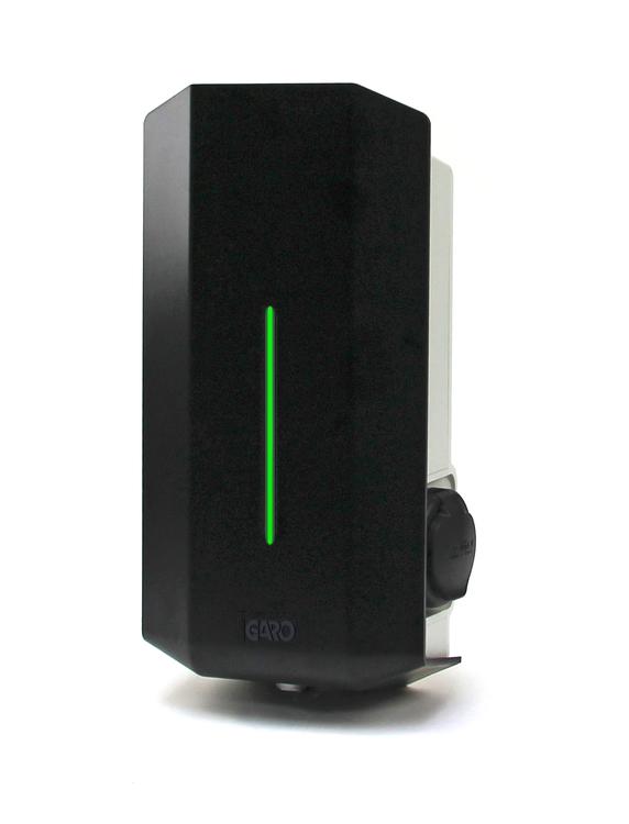 GARO GLB Laddbox, 3-fas, 32A, 22kW med Wifi och Typ 2-kontakt (personskyddsbrytare ingår)