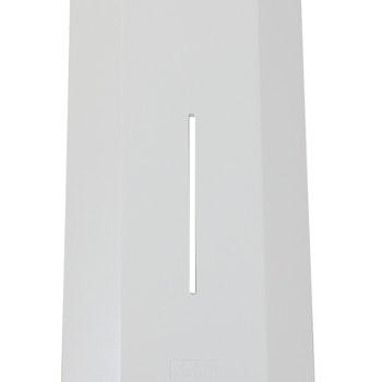 Färgad front vit