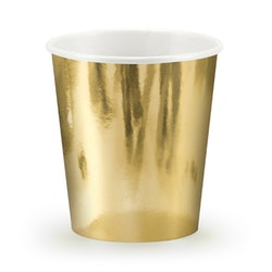Pappmugg Guld, 6-pack