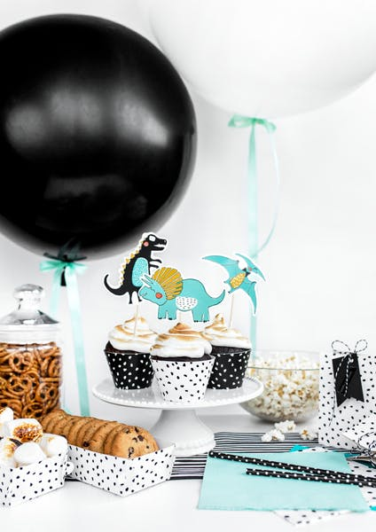 Cupcake wrappers svart & vit, 6-pack
