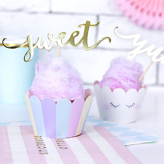 Cupcake wrappers pastell ögon, 6-pack
