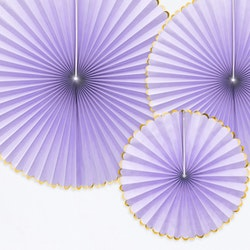 Pin Wheels lila och guld, 3-pack
