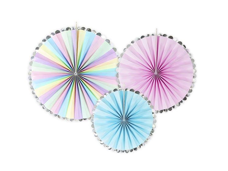 Pin Wheels dekoration pastell för enhörningsfest