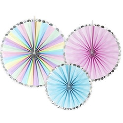 Pin Wheels Pastell/silver, 3-pack