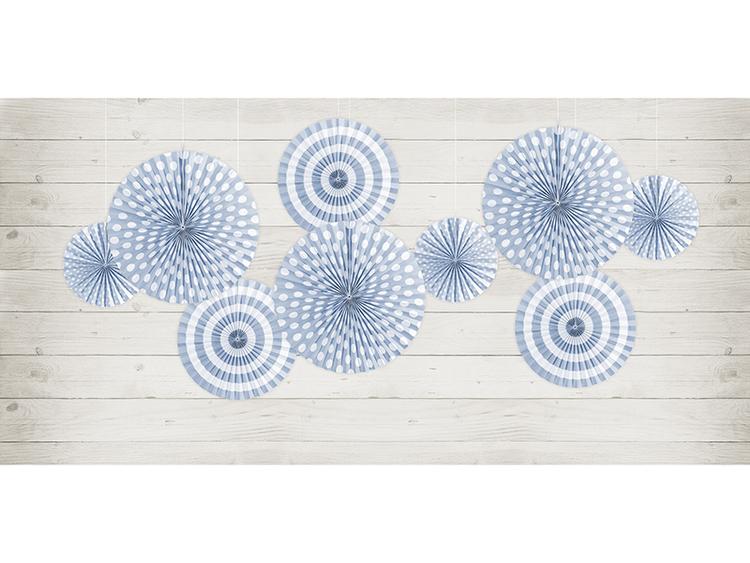 Pin Wheels Ljusblå/vit, 3-pack